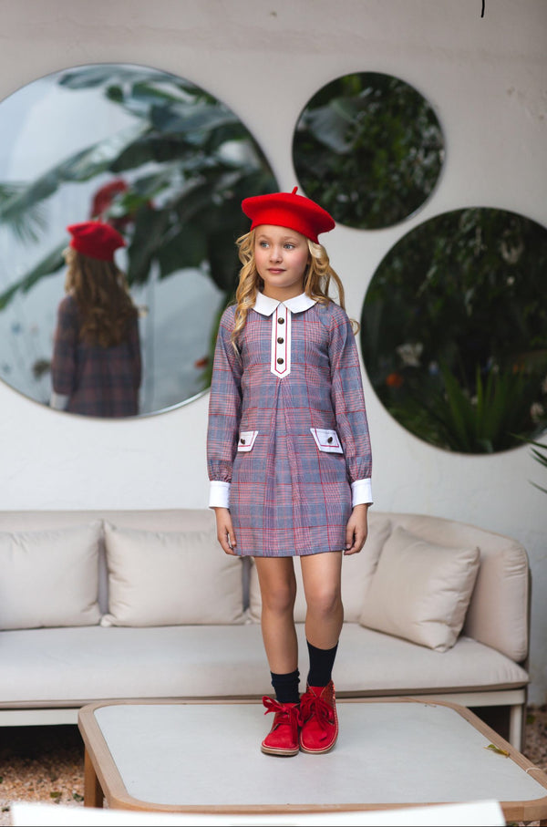 AW20 Rochy Girls Check Gales Dress