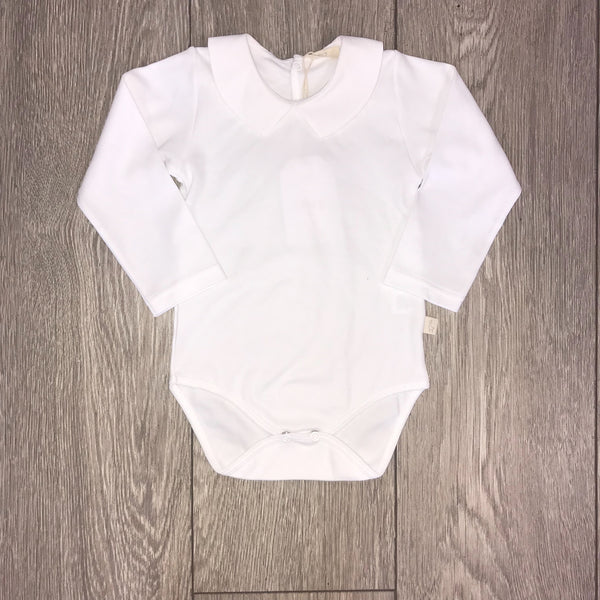 Baby Gi Baby White Pointed Collar Vest