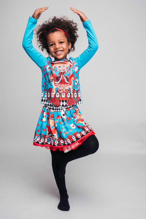 AW20 Rosalita Girls Chiquitina Queen Of Hearts Skirt Set
