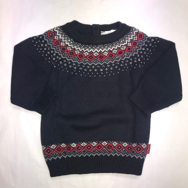 AW19 Tutto Piccolo Boys Navy Blue Knitted Jumper 7832