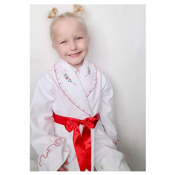 AW20 Salero Spanish Red & White Dressing Gown