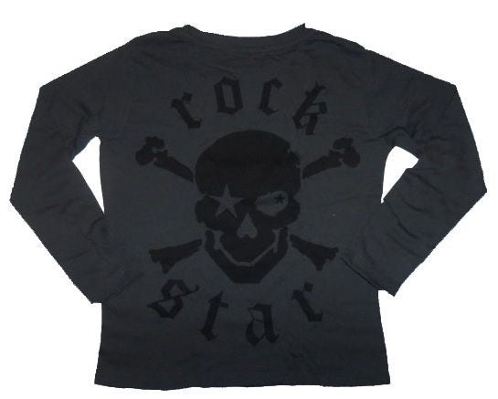 "AW14 Rockstar Baby ""Born to Rock' Long Sleeve T-shirt RSTY048 - Liquorice Kids"