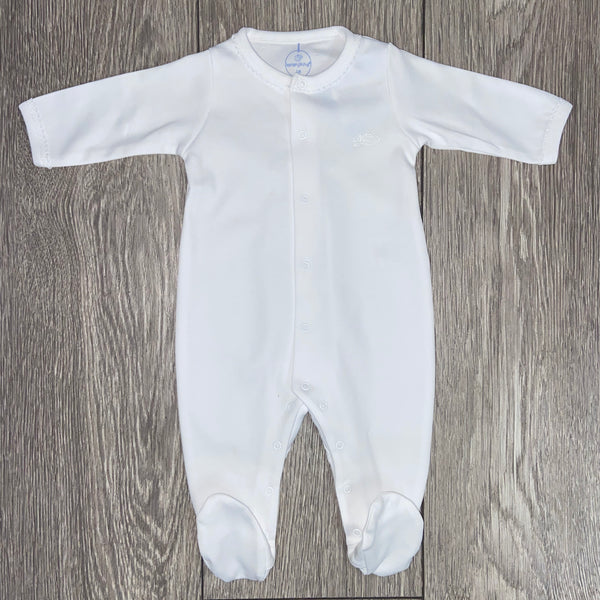 SS20 Laranjinha Baby White Cotton Babygrow BS301