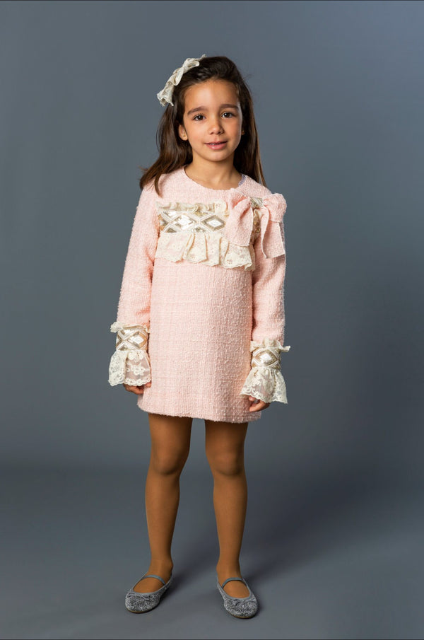 AW19 Naxos Girls Pink Chanel Style Dress