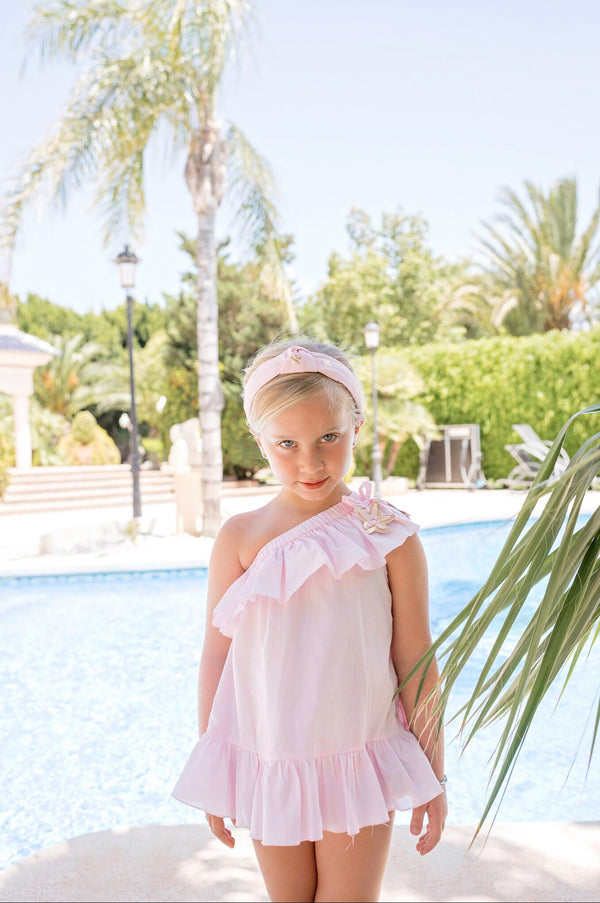 SS20 Dolce Petit Girls Pink Beach Dress 2401-V