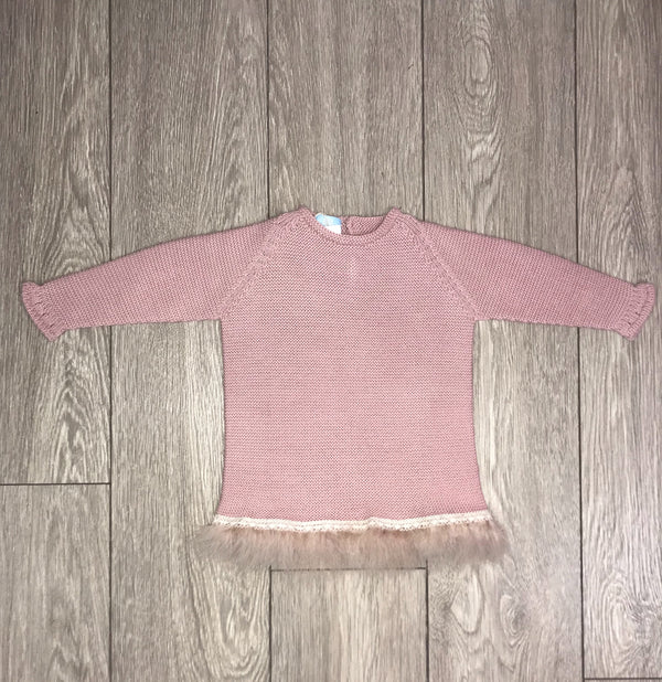 AW18 Floc Girls Dusky Pink Knitted Dress