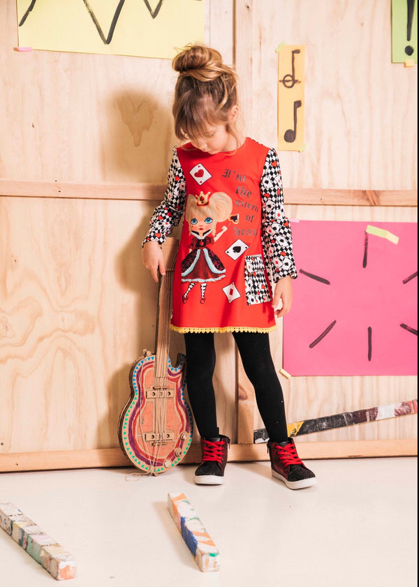 AW20 Rosalita Girls Chiquitina Queen Of Hearts Dress