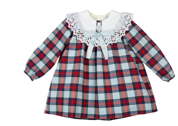 AW20 Rochy Girls Blue Check Cuadros Dress