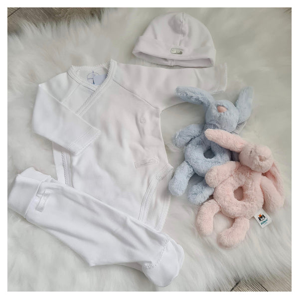 Laranjinha Baby White Cotton Set