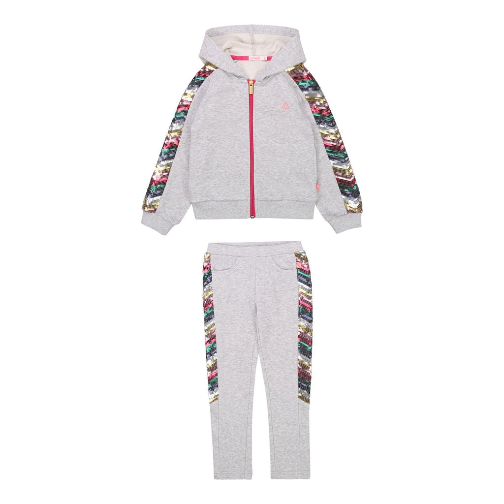 AW20 Billieblush Girls Grey Sequin Tracksuit