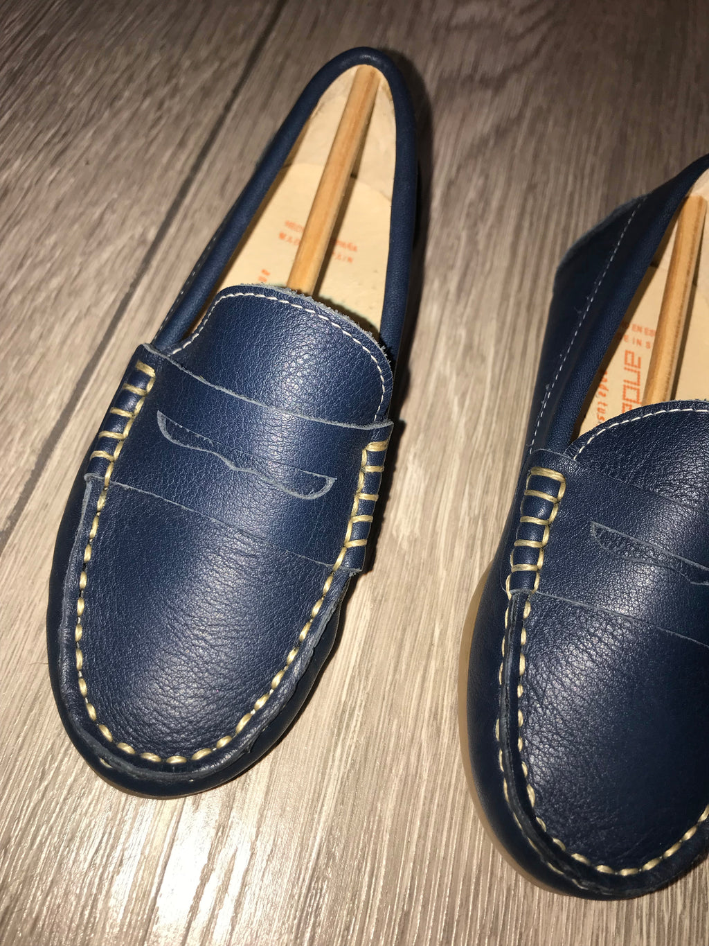 Andanines Boys Blue Leather Loafer