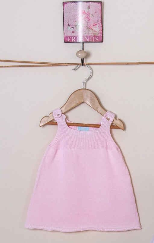 SS19 Floc Baby Girls Pink Knitted Dress