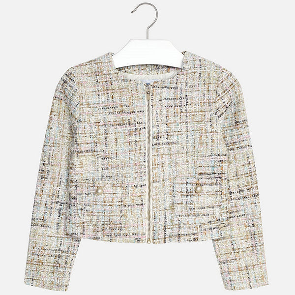 SS18 Mayoral Older Girls Tweed Style Jacket    6408