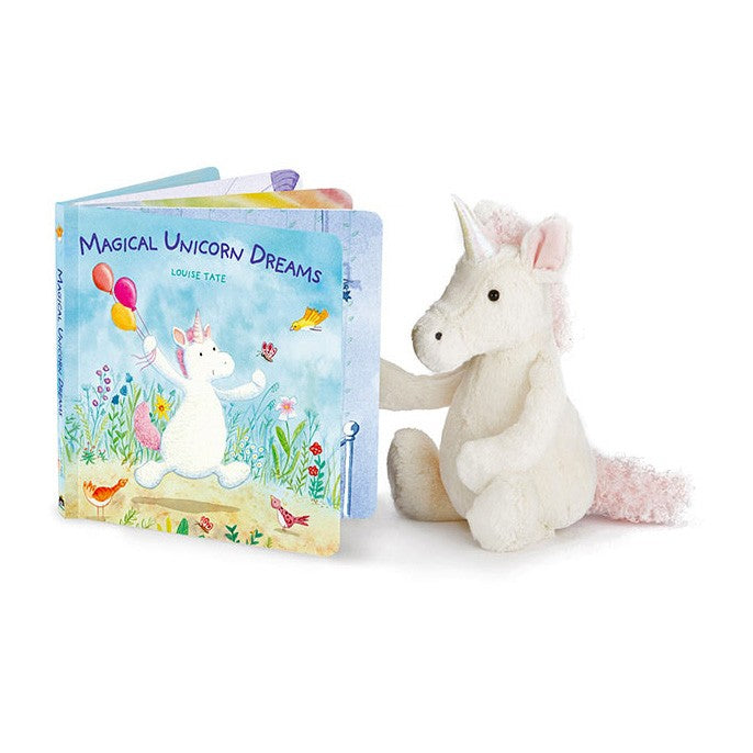 Jellycat Magical Unicorn Dreams Book & Bashful Unicorn Set