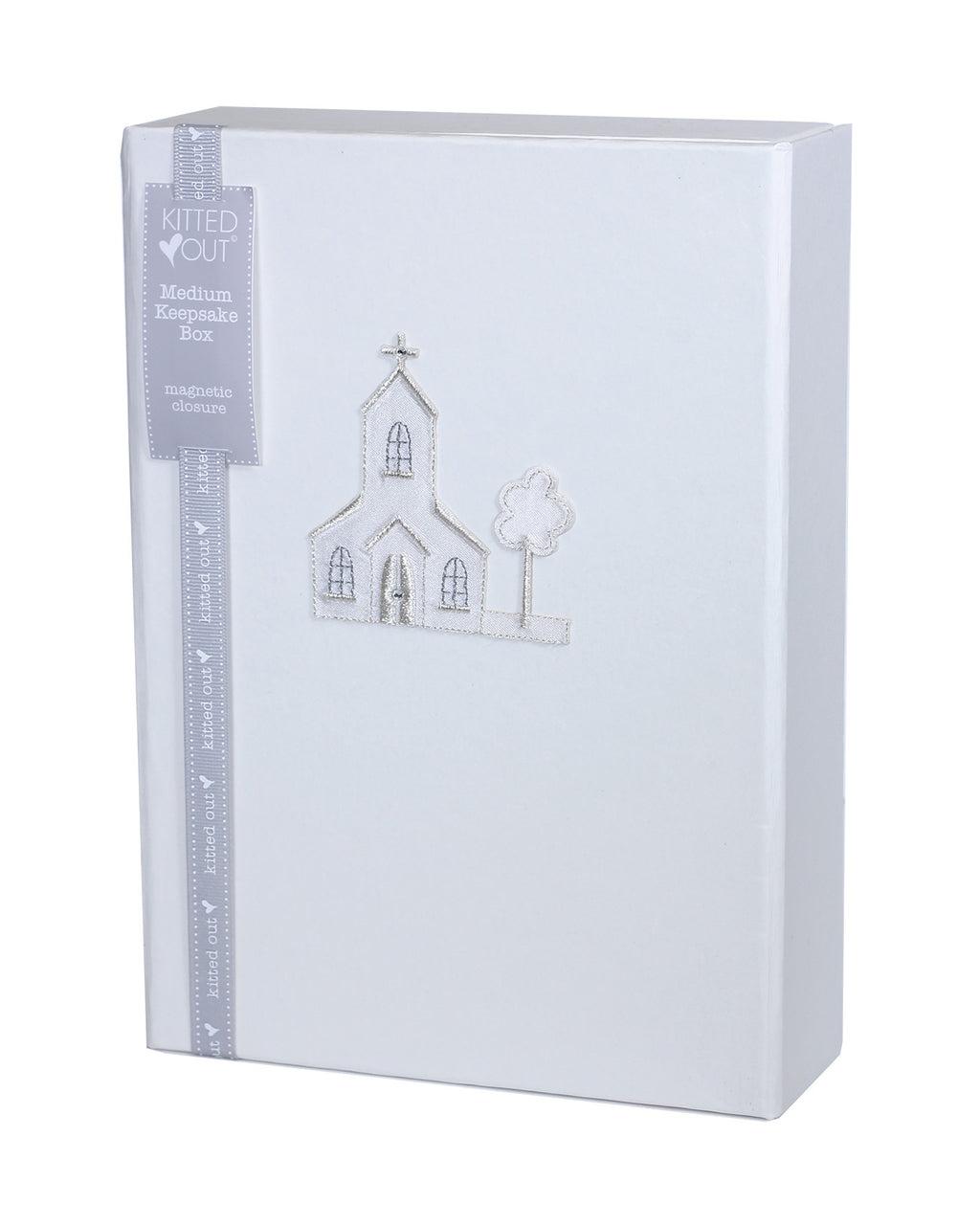 Christening Satin Church Keepsake Box - Liquorice Kids