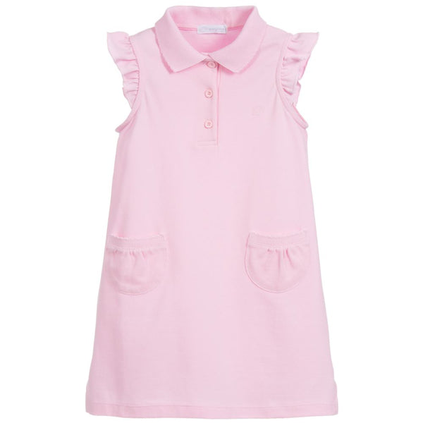 SS19 Laranjinha Girls Pale Pink Polo Dress V9548