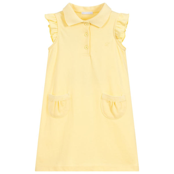 SS19 Laranjinha Girls Lemon Polo Dress V9548
