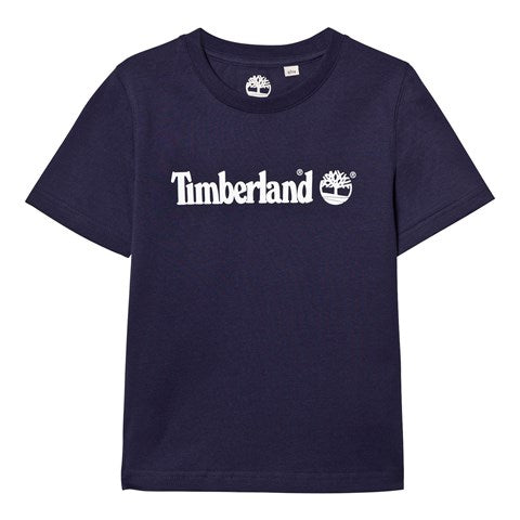 SS20 Timberland Boys Navy Blue Classic Branded T-Shirt