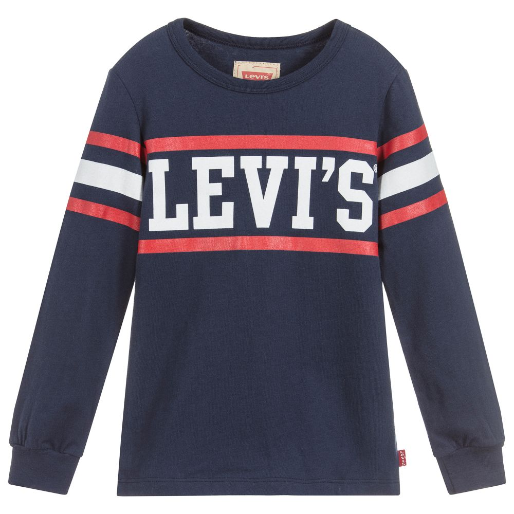 AW18 Levi's Boys Blue Logo Top