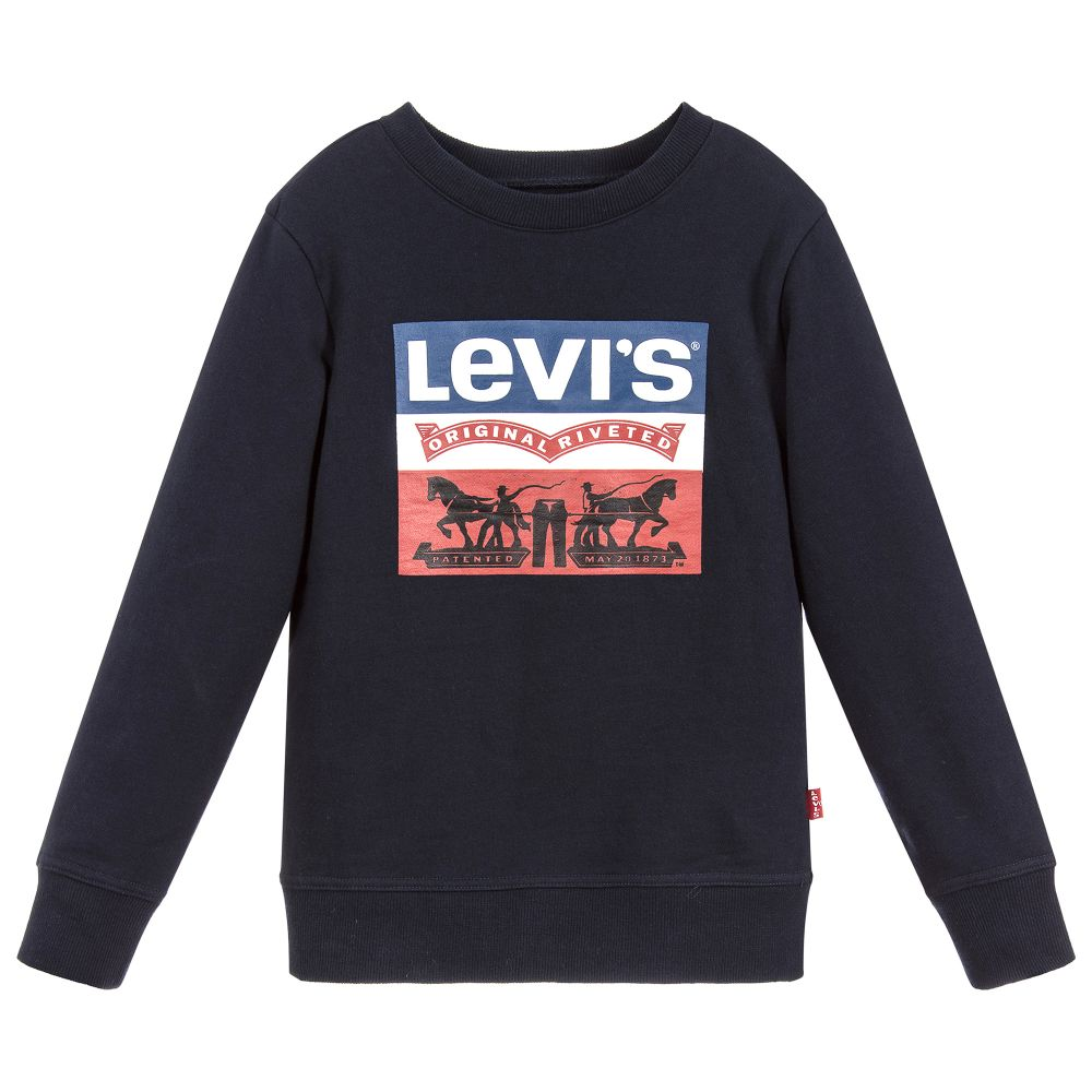 AW18 Levi's Boys Navy Blue Logo Sweatshirt