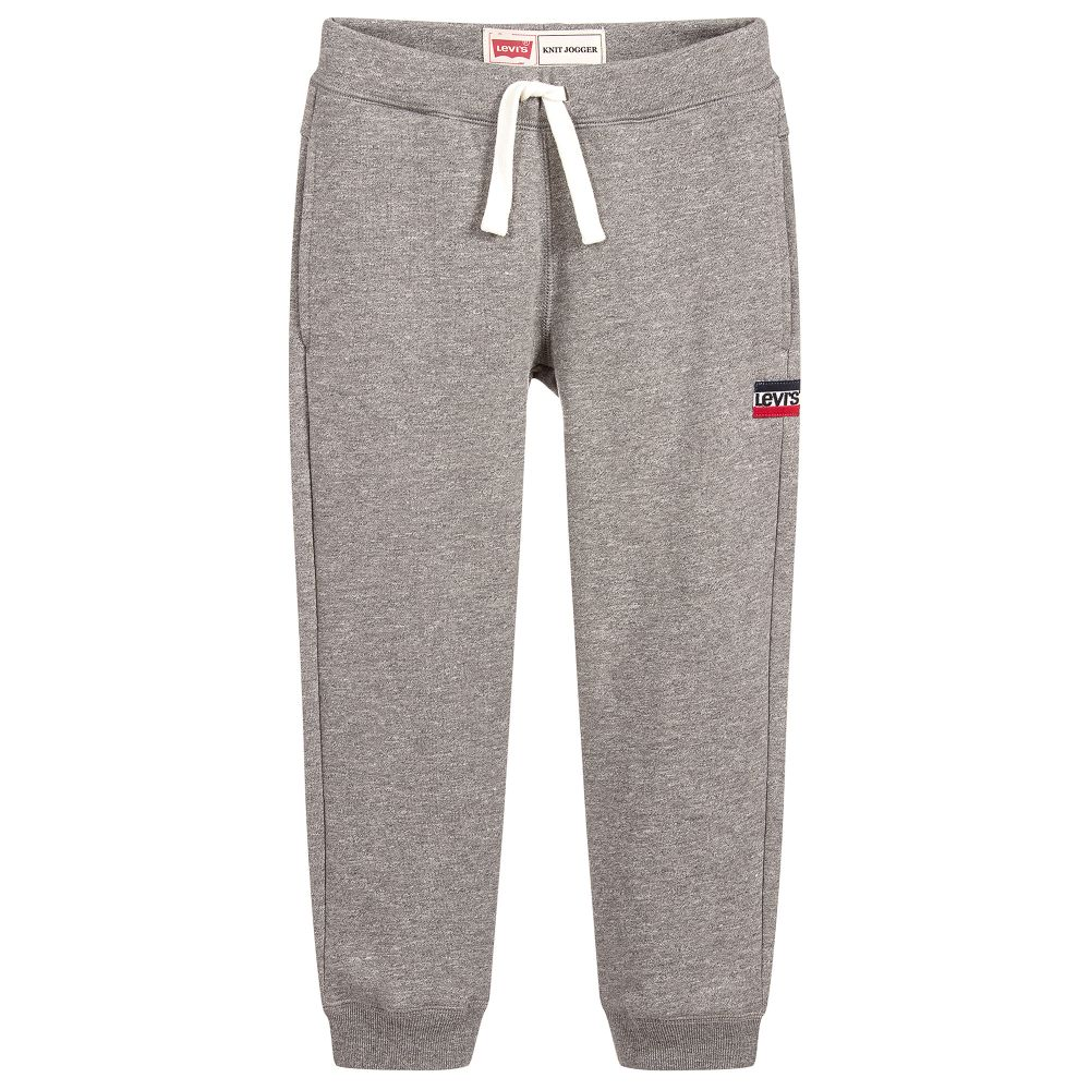 AW18 Levi's Boys Grey Branded Tracksuit Bottoms