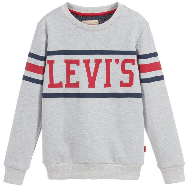 AW18 Levi's Boys Grey Logo Top
