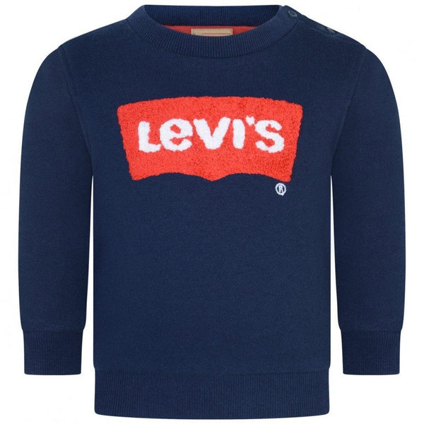 AW18 Levi's Boys Toddler Navy Blue Logo Sweater