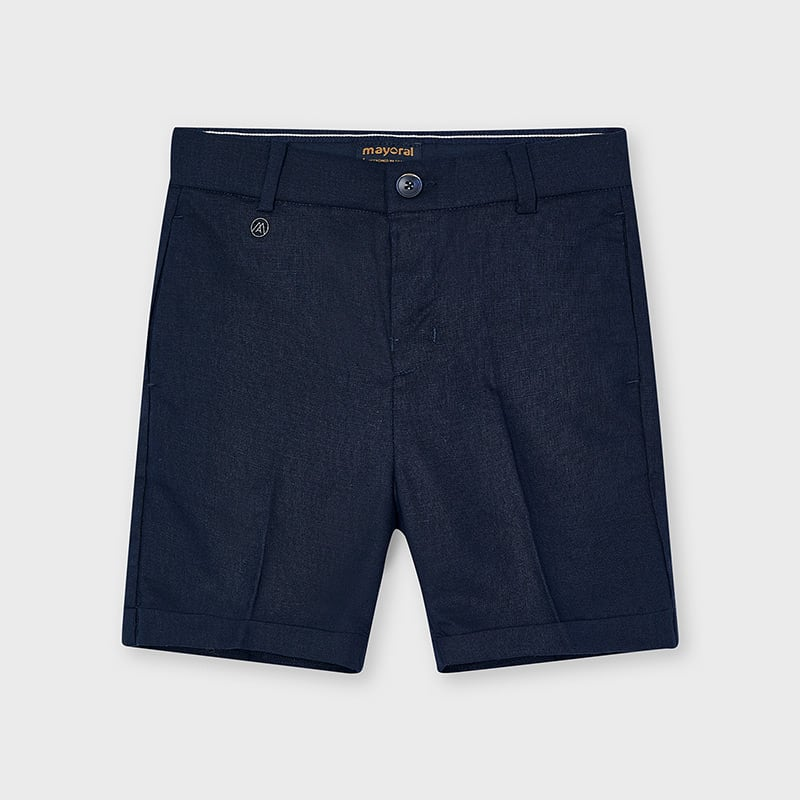 SS21 Mayoral Boys Navy Blue Tailored Shorts 3223