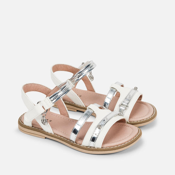 SS18 Mayoral White and Silver Sandals 43879