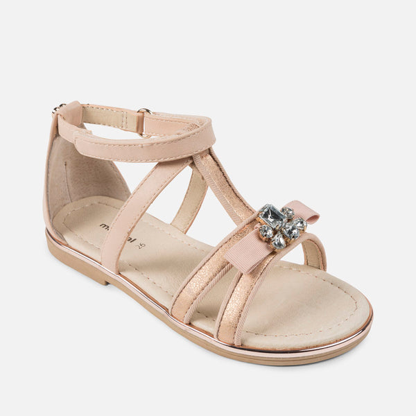 SS18 Mayoral Copper Sandals with decorative crystals 43881