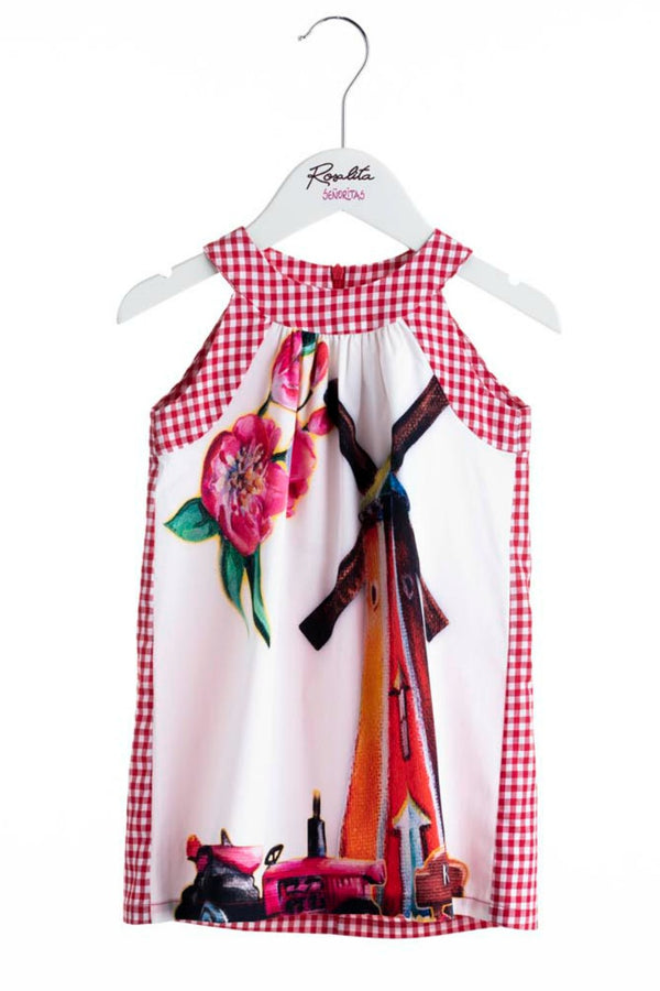 SS19 Rosalita Girls Windmill & Tulips Dress
