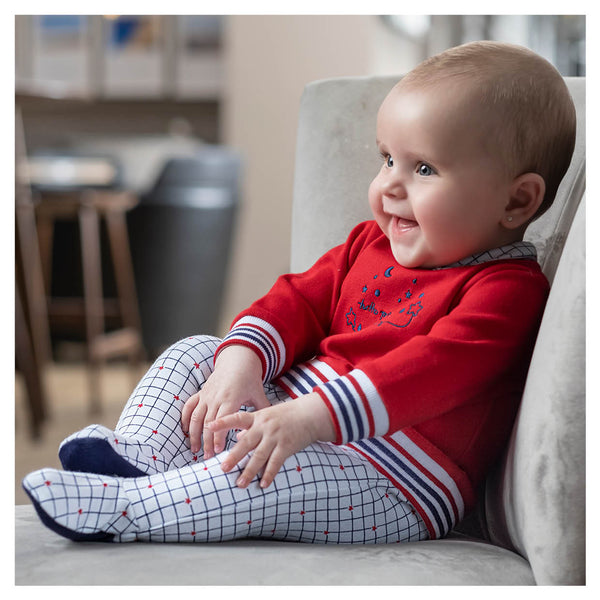 AW20 Tutto Piccolo Baby Boy Red, White & Blue Babygrow 9096