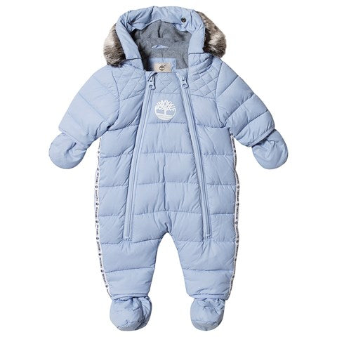 AW19 Timberland Baby Boys Pale Blue Snowsuit