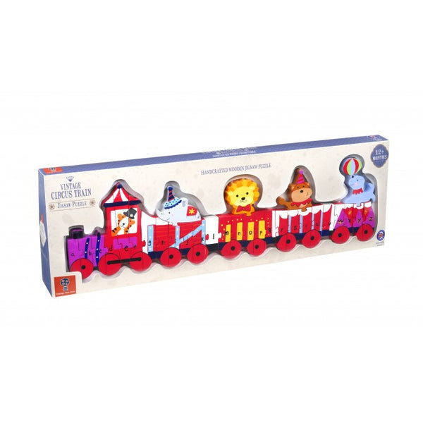 Orange Tree Vintage Circus Puzzle Train