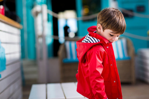SS18 Tutto Piccolo Red Raincoat 4646