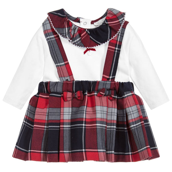 AW18 Patachou Baby Girls Tartan Skirt Set