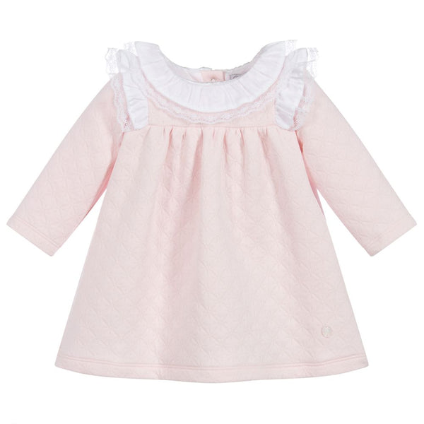 AW20 Patachou Baby Girls Pink Lace Detail Dress