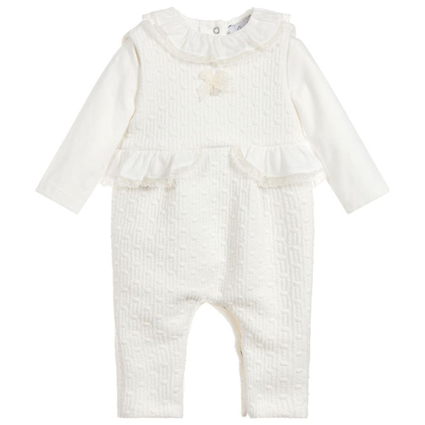 AW18 Patachou Baby Ivory Romper Two-Piece Set