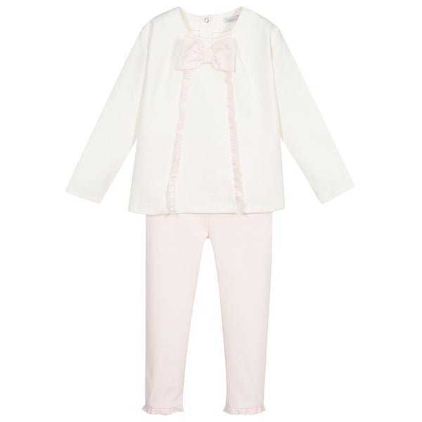 AW20 Patachou Girls Pink & Ivory Leggings Set
