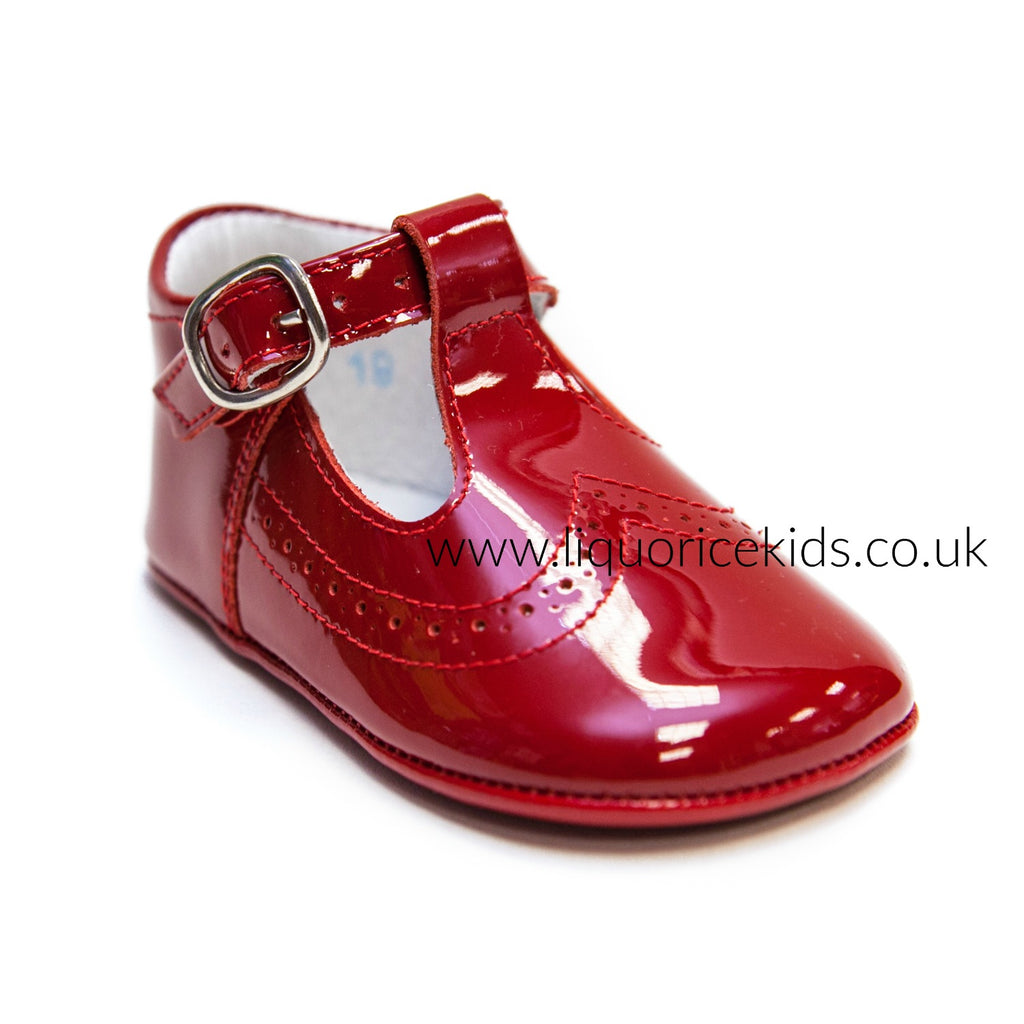 Andanines Red Patent Pram Shoes