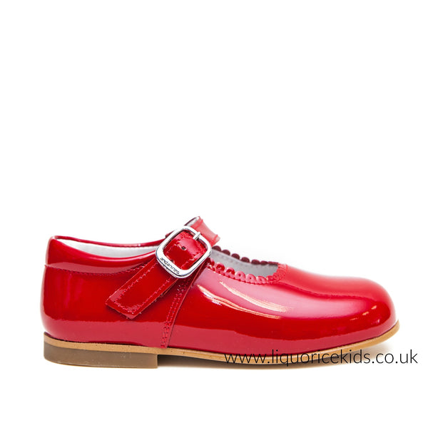 Andanines Red Patent Mary Janes - Liquorice Kids