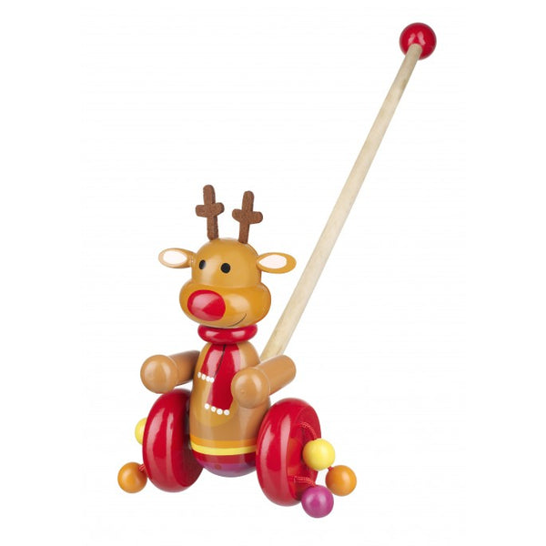 Orange Tree Reindeer Push Along