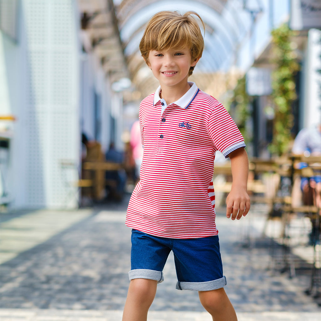 SS20 Tutto Piccolo Boys Red, White & Blue Boys Short Set 8844 & 8344