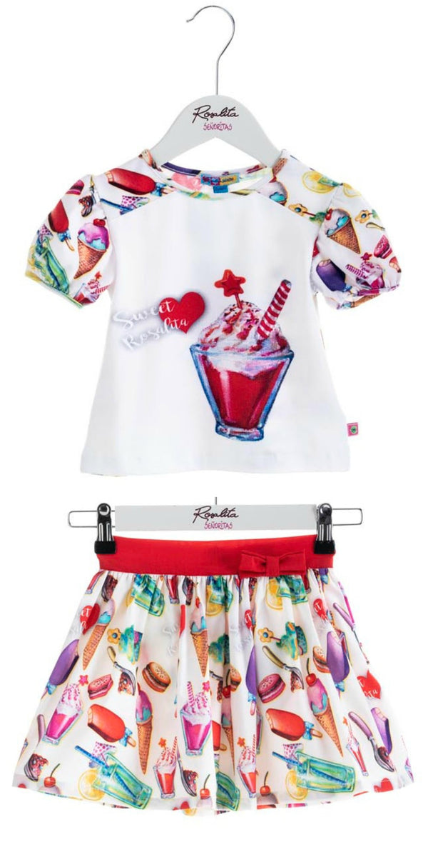 SS19 Rosalita Girls Ice Cream Sundae Skirt Set