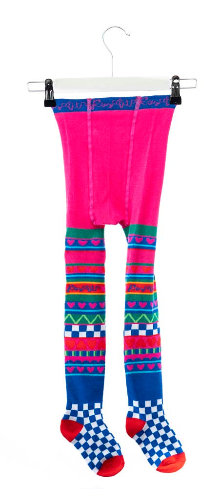 PRE-ORDER AW19 Rosalita Girls Spiez Hearts & Stripes Tights