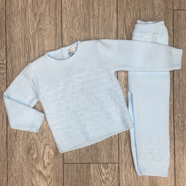 AW20 Blues Baby Baby Boys Blue Knitted Set TT0271