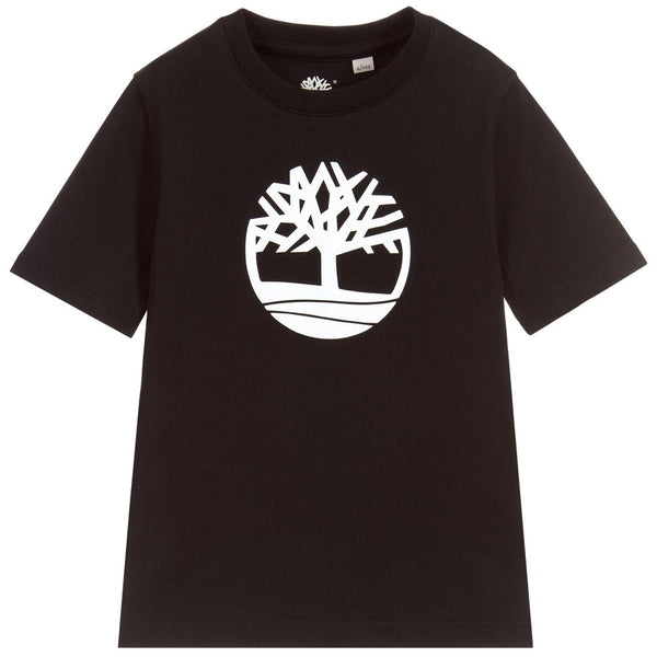 SS19 Timberland Boys Black Branded T-Shirt