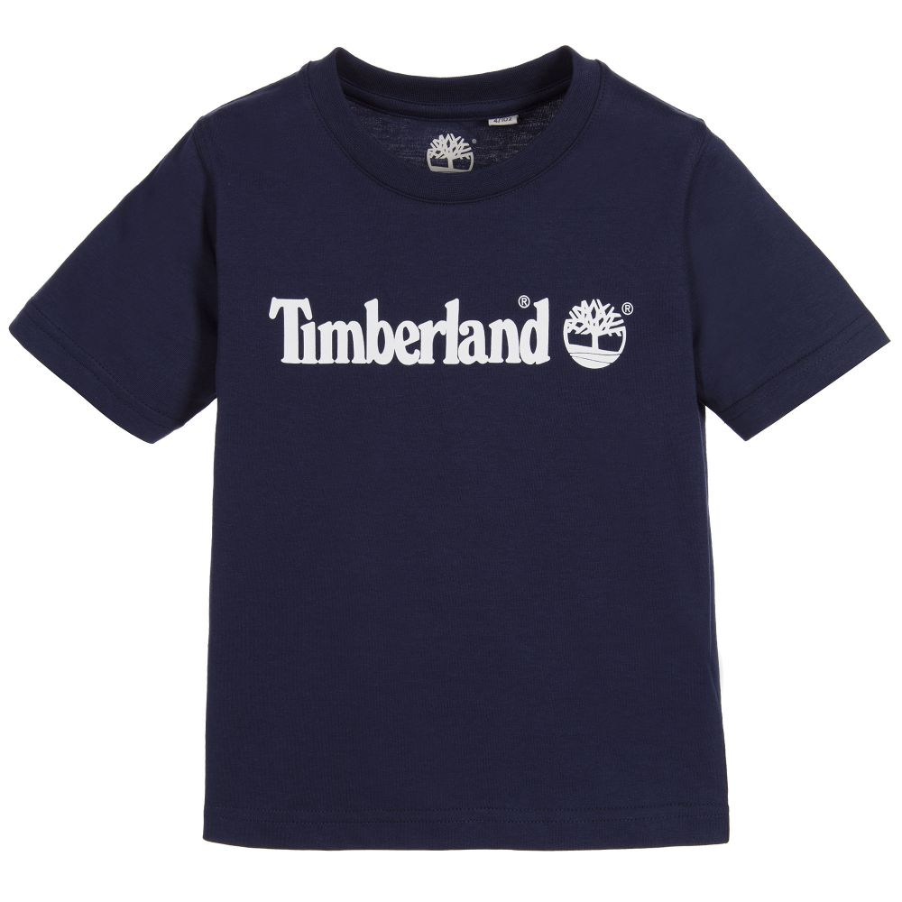 PRE-ORDER AW20 Timberland Boys Navy Logo Short Sleeved Top