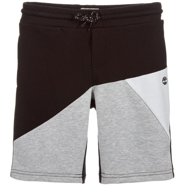 SS19 Timberland Boys Black, Grey & White Jersey Shorts