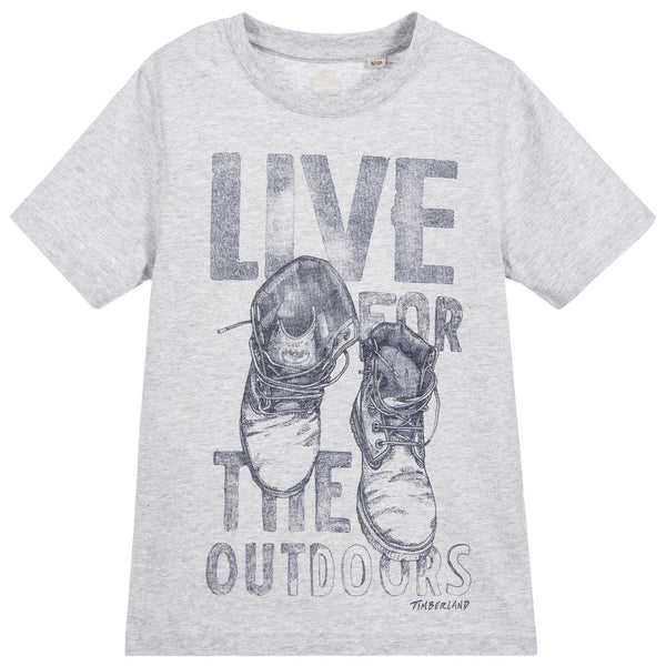 SS18 Timberland Boys Grey 'Live For The Outdoors' Top